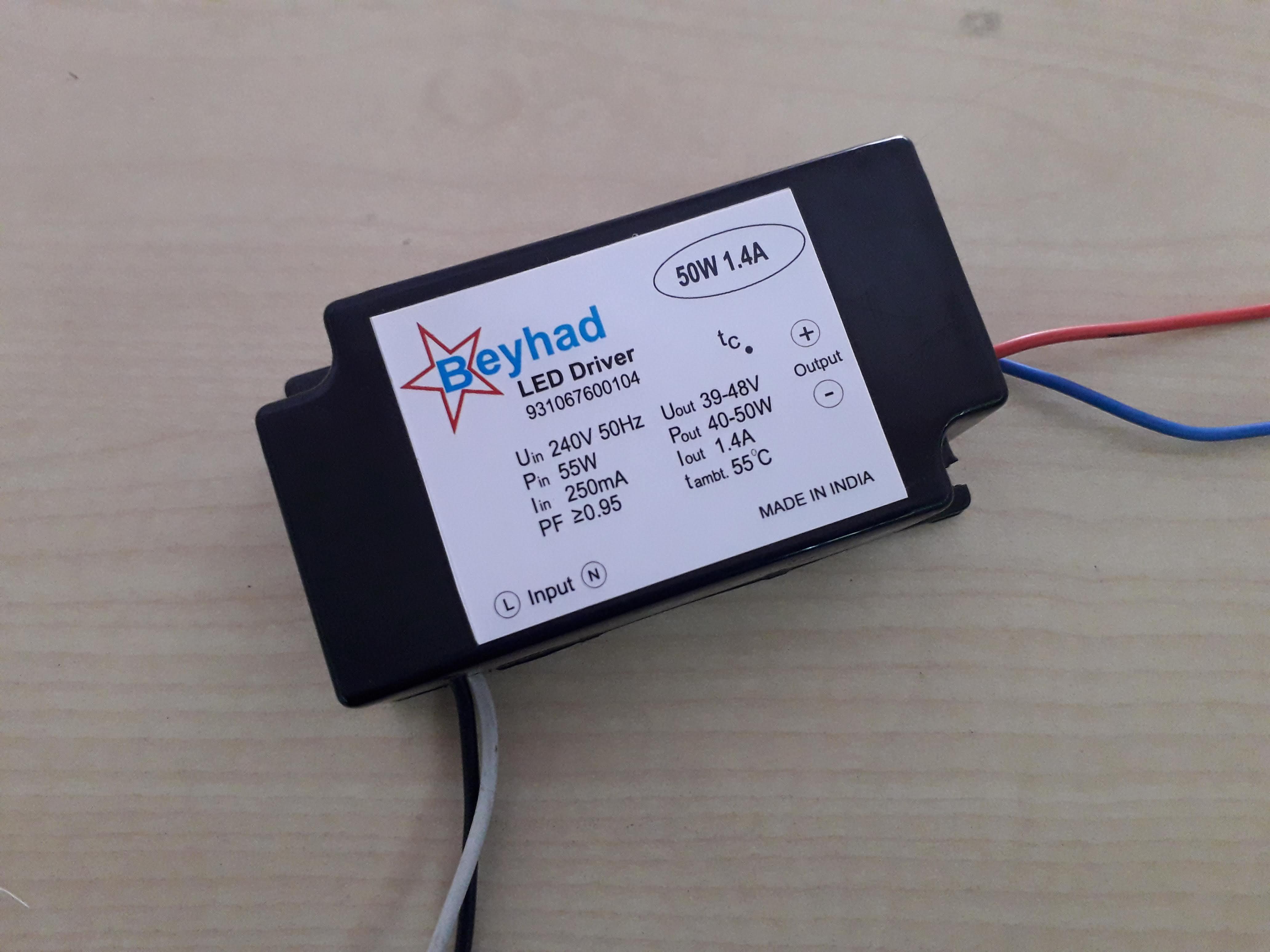 Flood Light Driver 50W 1.4Amp.