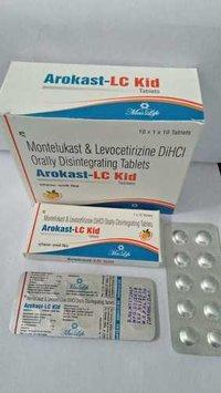 Montelukast & Levocetirizine DiHCl Orally Disintegrating Tablets