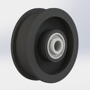 With Bearing Flat Pulley