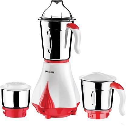 Philips HL7510/00 550 W Mixer Grinder  (Red, White, 3 Jars)