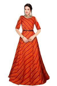 Ladies Prince Orange Gown