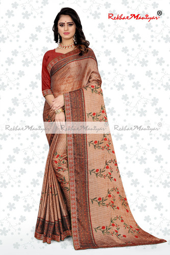 Two Tone Rangoli Silk Jacquard Shaded Party Wear Saree