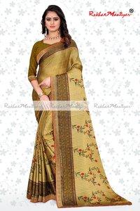 Two Tone Rangoli Silk Jacquard Shaded Party Wear Saree