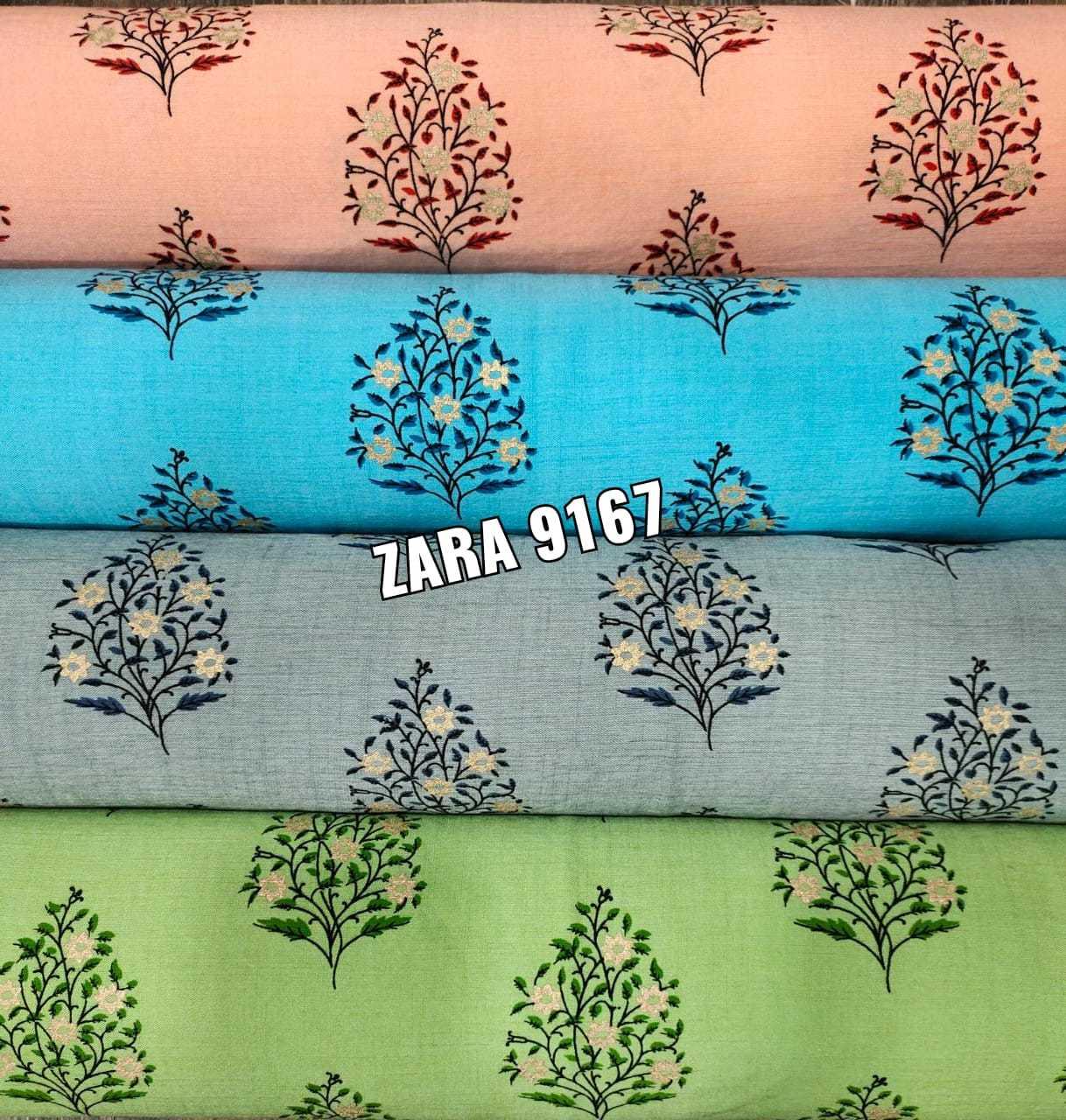 Rayon twotone printed fabric