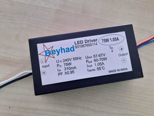 Street Light Led Driver 75W 1.05A