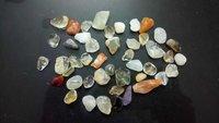 Transperant Banded Agate Polished Pebbles Medium Size  Stone