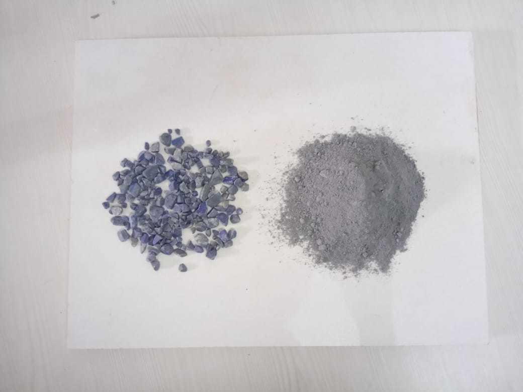 semi- precious Amethyst quartz powder