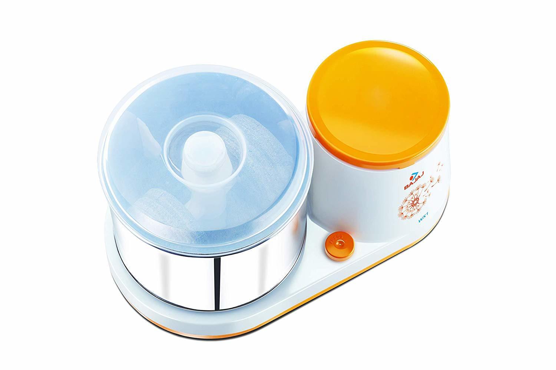 Bajaj WX1 150-Watt Table Top Wet Grinder (White)