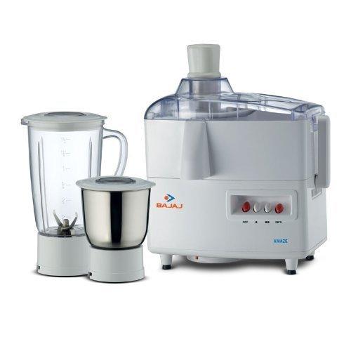 Bajaj Amaze 450 watts Juicer Mixer Grinder (White)