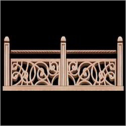 Carved Red Sandstone Jali