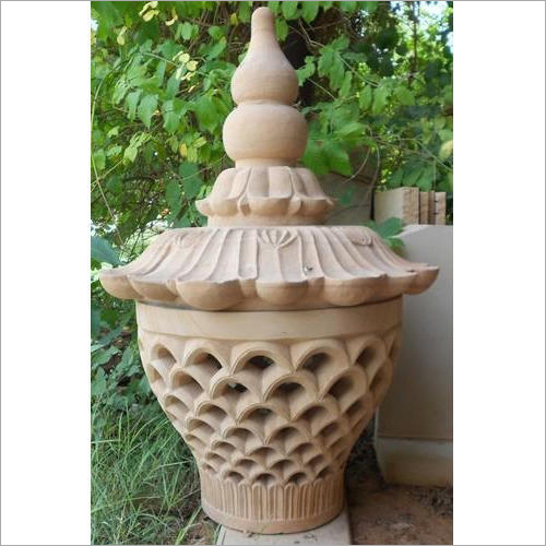 Sandstone Lamp And Post