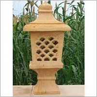 Hand Carved Sandstone Lamp