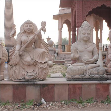 Hand Carved Sandstone Statue