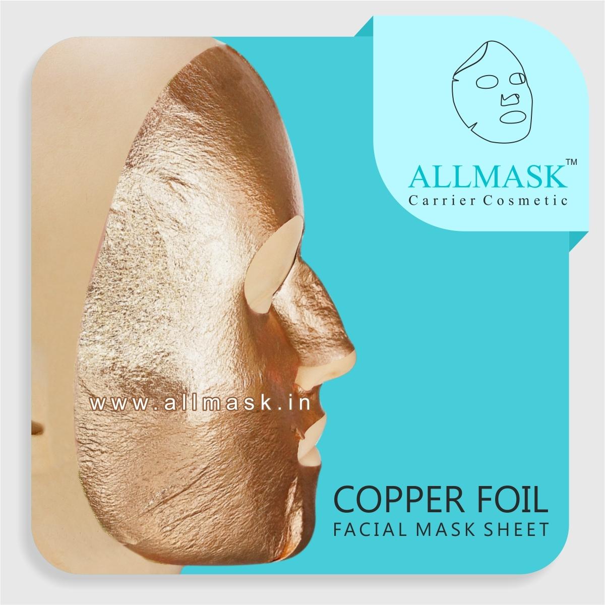 Copper Facial Mask Sheet - 100% Original - ODM/OEM Customization Available