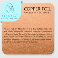 Copper Facial Mask Sheet - 100% Original - ODM/OEM Customization Available