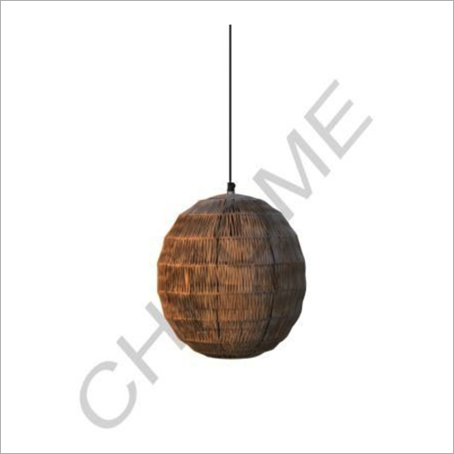 Bamboo Round Hanging Light