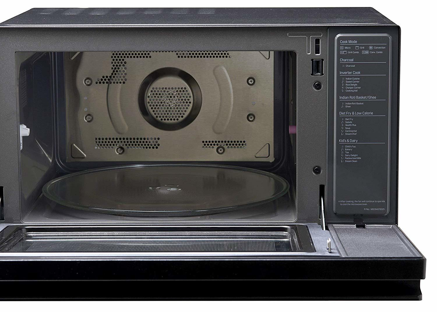 LG 39 L NeoChef Convection Microwave Oven with Smart Inverter (MJ3965BQS, Black)