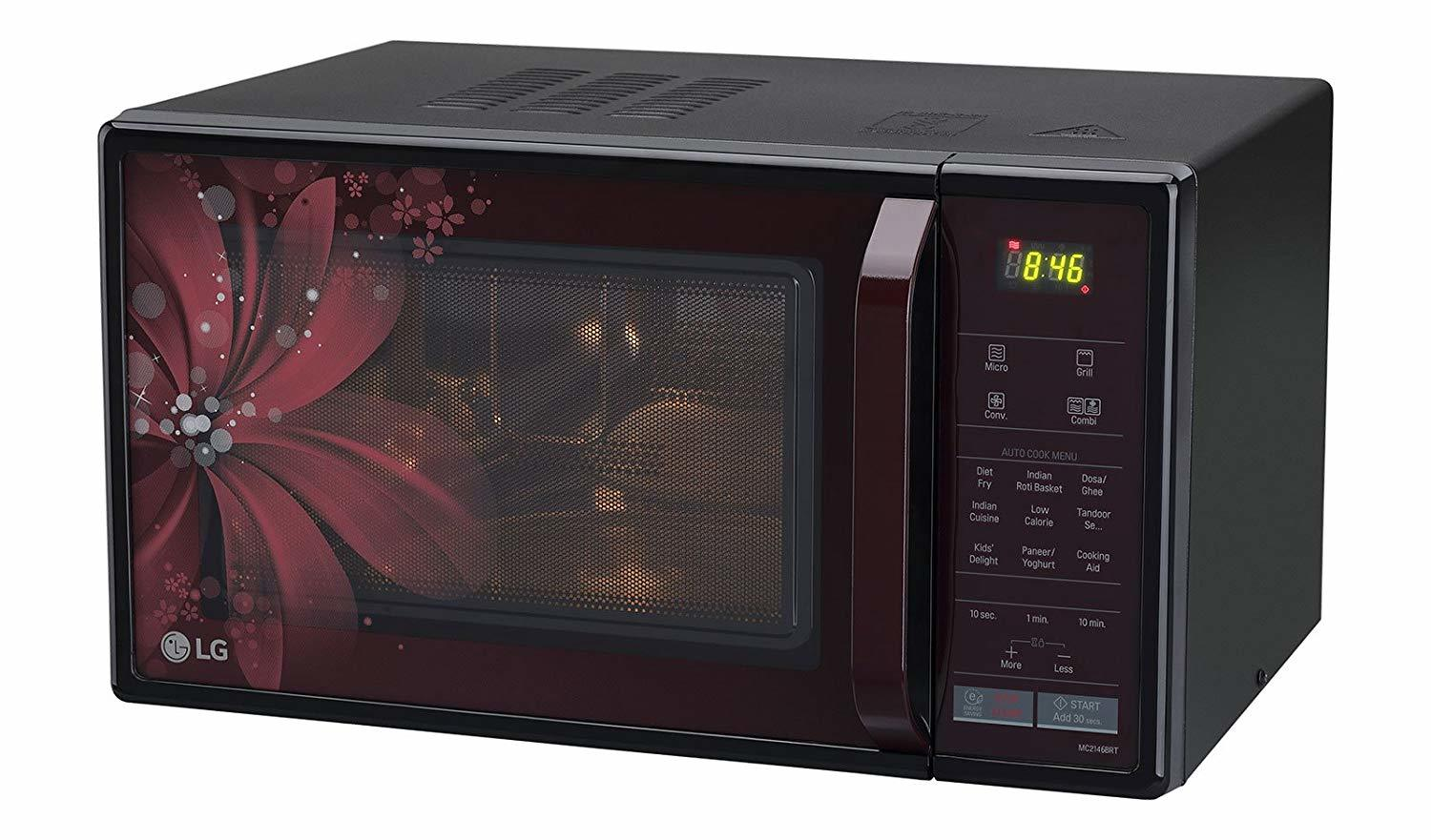 LG 21 L Convection Microwave Oven (MC2146BRT, Black)