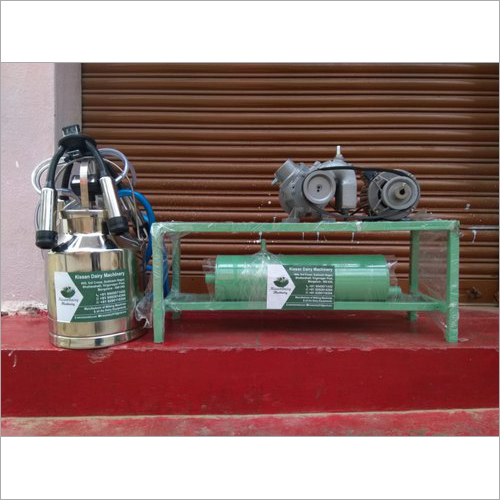 Single Can Fixed Type Motor Operated Milking Machine