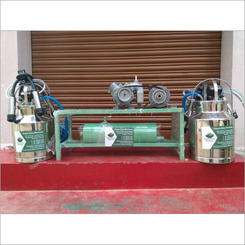 Double Can Fixed Type Engine Operated Milking Machine