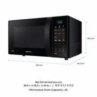 Samsung 21 L Convection Microwave Oven (CE73JD-B/XTL, Black)