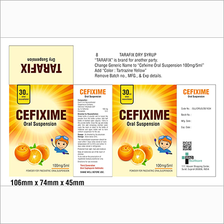 Cefixime Oral Suspension