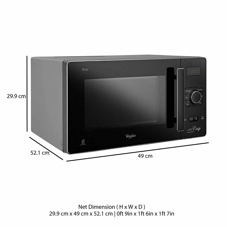 Whirlpool 25 L Convection Microwave Oven (25L CRISP STEAM CONV. MW OVEN-MS, Black)