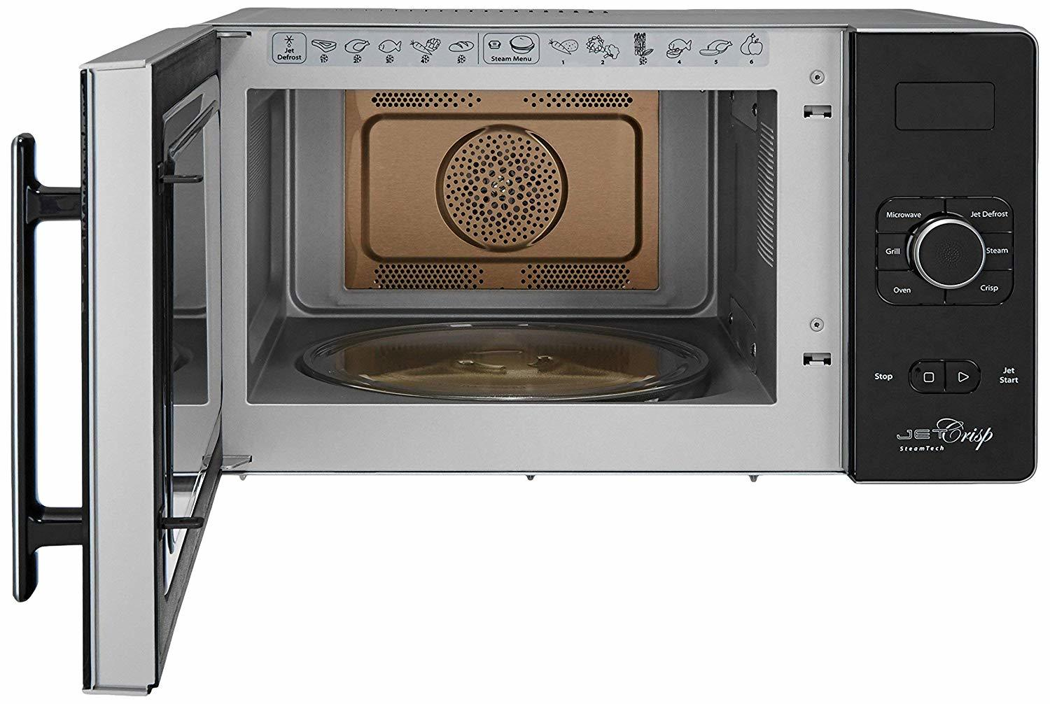 Whirlpool 25 L Convection Microwave Oven (25L CRISP STEAM CONV. MW OVEN-MS, Black)