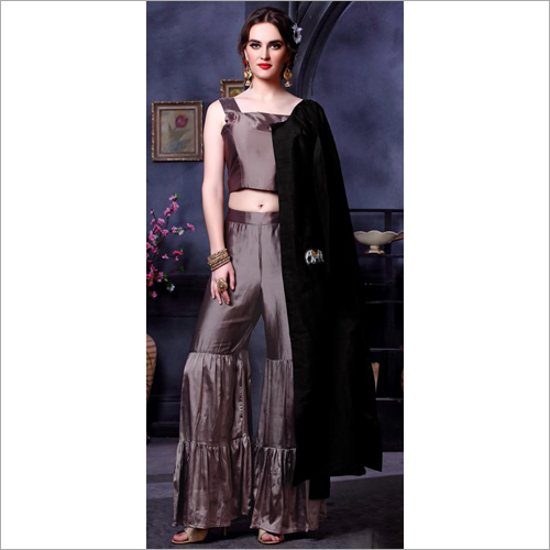 Crop Top With Sharara Suit