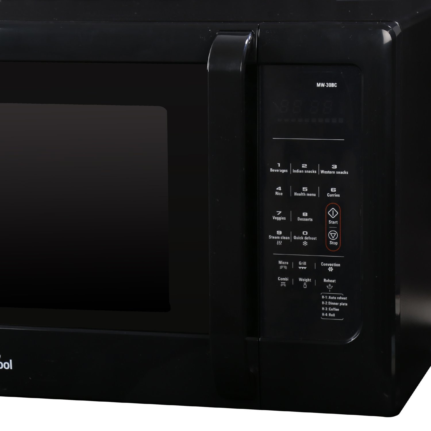 Whirlpool 30 L Convection Microwave Oven (MW 30 BC, Solid Black)