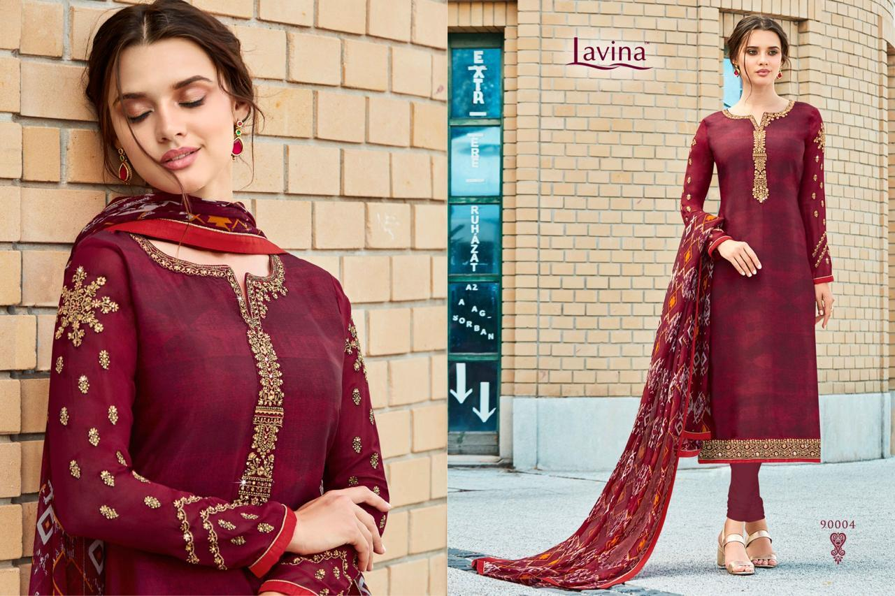 Silk Embroidered Suit