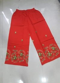 Red Embroidery Plazo