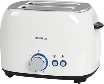 Havells Crust 800 W Pop Up Toaster  (White)