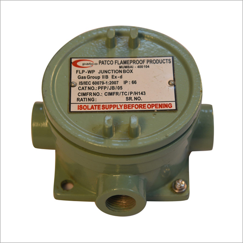 FLAMEPROOF JUNCTION BOX 75 X 75 MM
