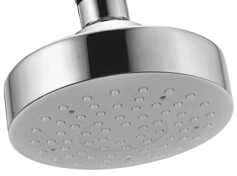BRASS 4 INCHES ROUND SHOWERS