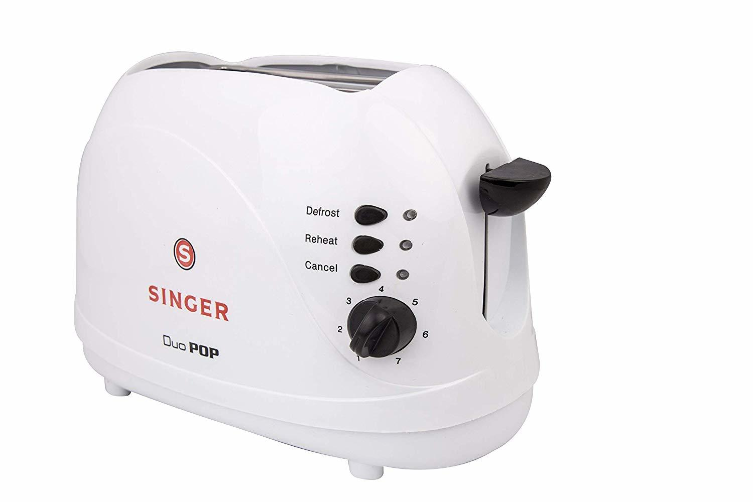 Singer Duo Pop 2 Slice 700 Watts Popup Toaster