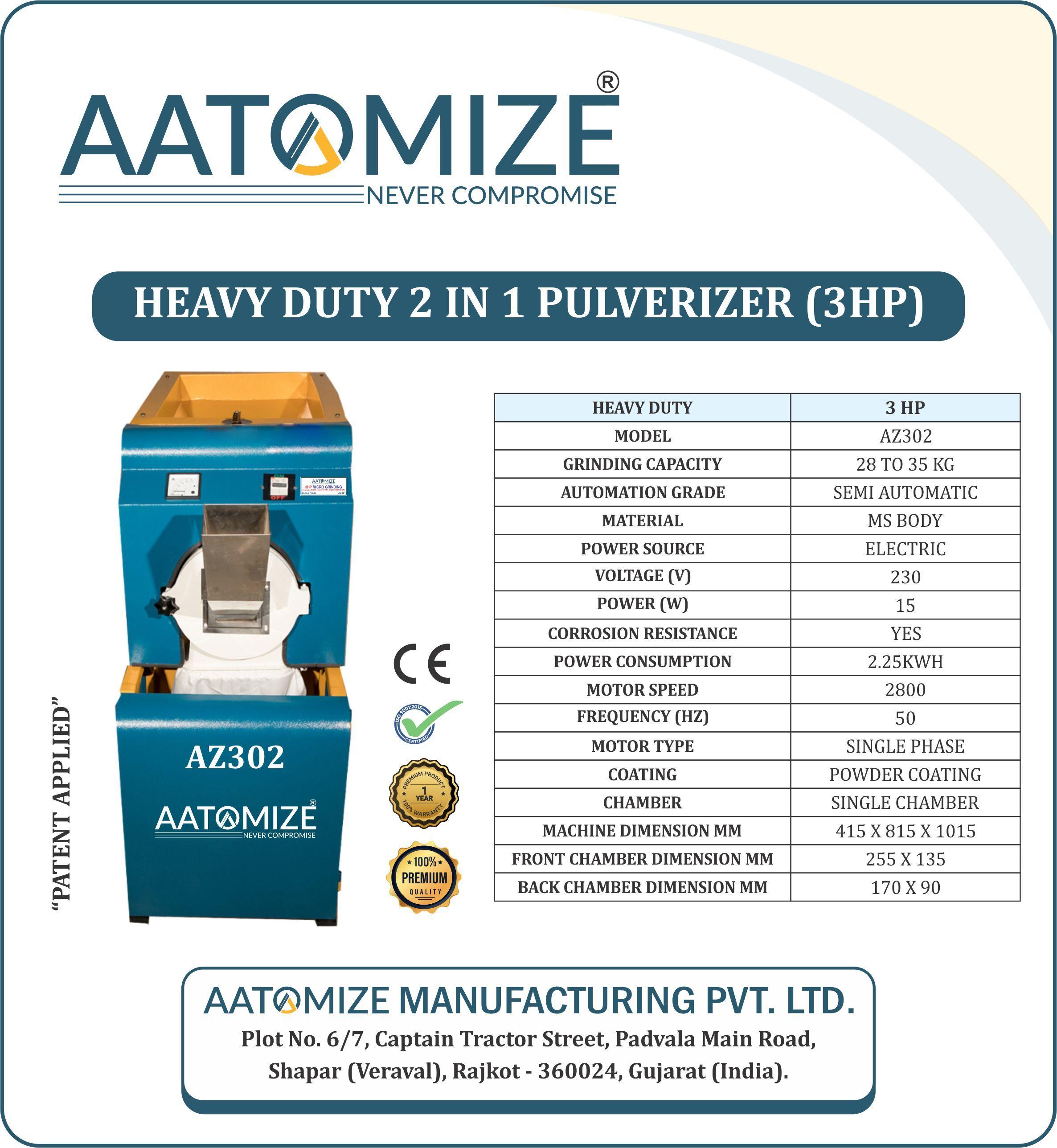 3HP Creta Powder Pulverizer