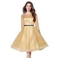 Ladies Frock Style Plain Dress