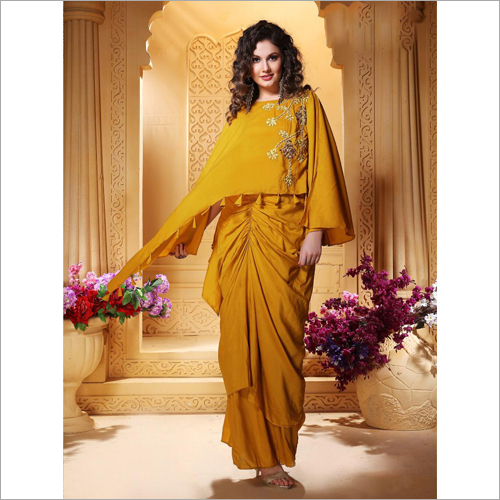 Ladies Designer Plazzo Saree