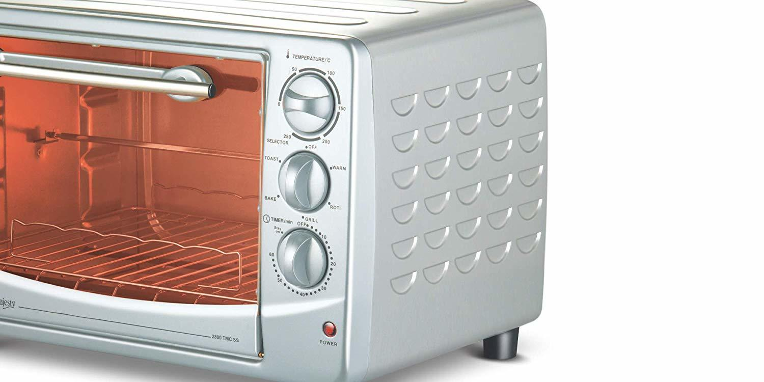 Bajaj Majesty 2800 TMCSS 28-Litre Oven Toaster Grill (Silver)