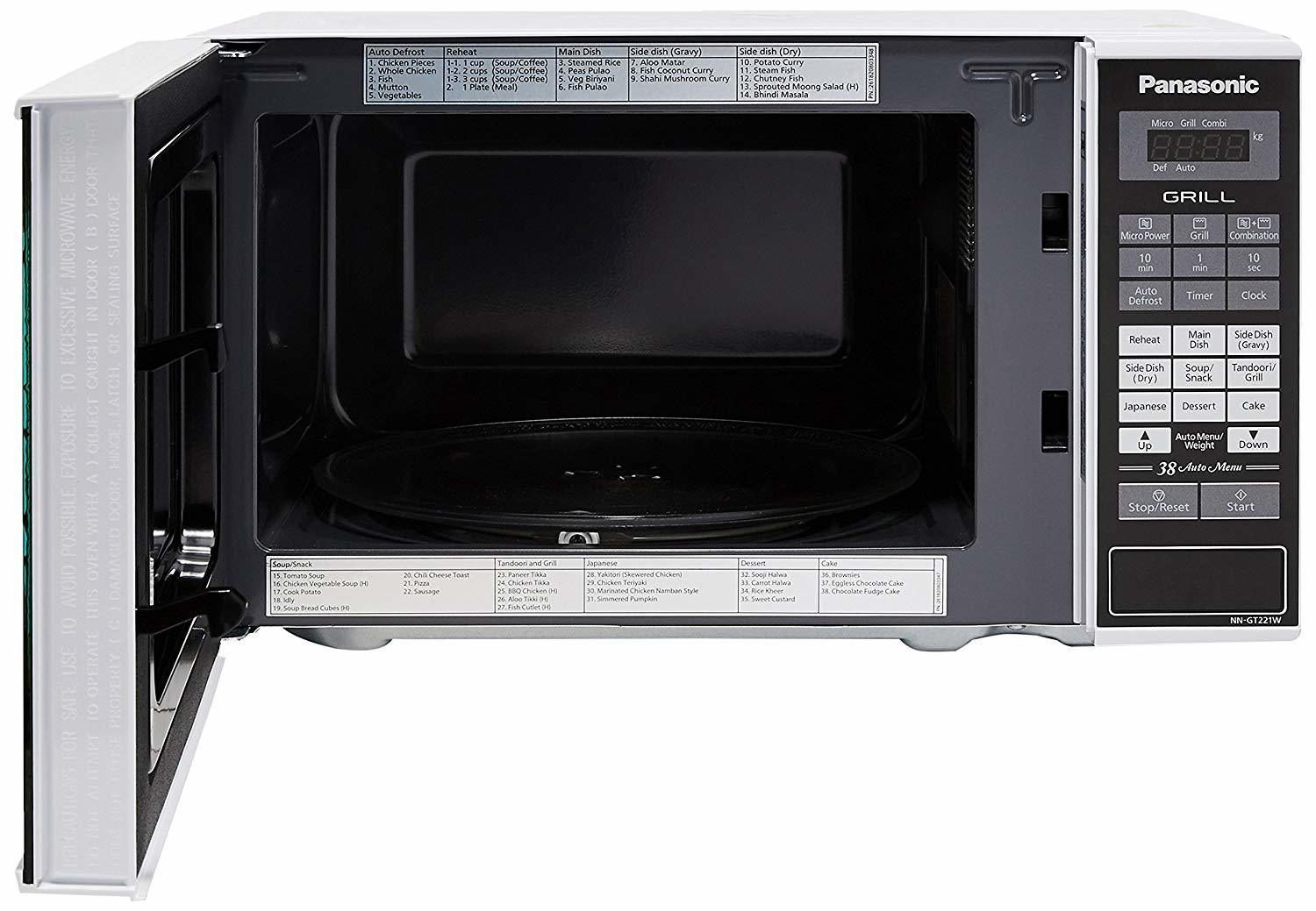 Panasonic 20 L Grill Microwave Oven (NN-GT221WF, White)