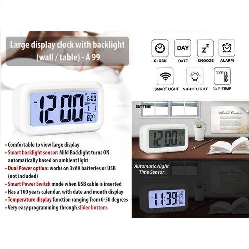 Large Display Clock With Backlight