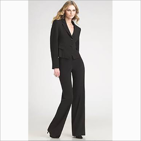 Women Black Suit With Bell Bottom Trousers
