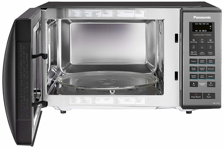Panasonic 23 L Convection Microwave Oven (NN-CT353BFDG, Black Mirror)