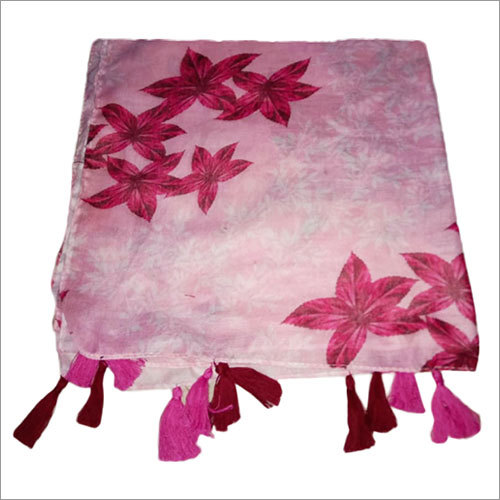 Ladies 28 x 72 Inches Poly Cotton Scarves