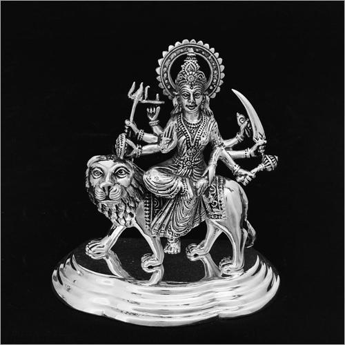 Durga Mata Silver Statue