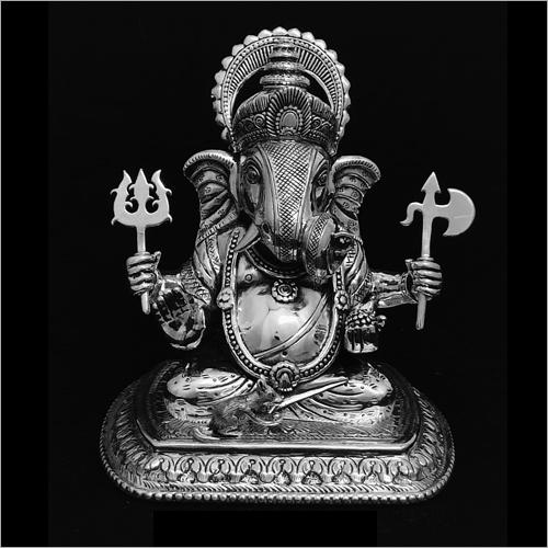 Ganesh Silver Statue