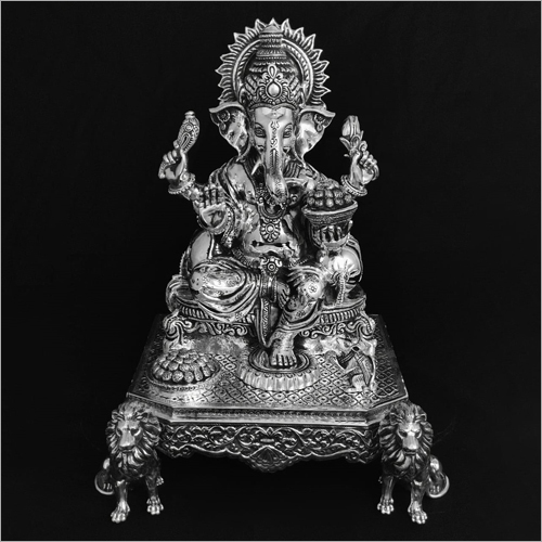 Lord Ganesh Silver Statue