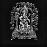 Shree Ganesh Silver Statue