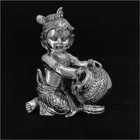 Laddu Gopal Silver Statue